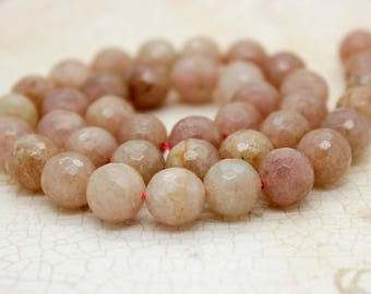 Faceted Muscovite Faceted Round Gemstone Ball Beads 8mm 10mm 12mm 14mm