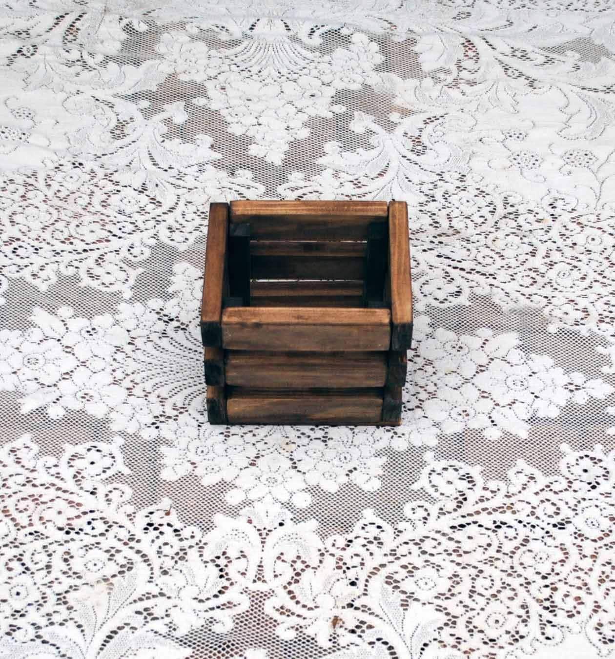 Wood Rustic Wedding Centerpiece Small Panel Box Vase ...