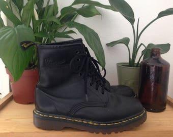 Black Doc Martens Leather Combat Boots UK 4 US Women's 6