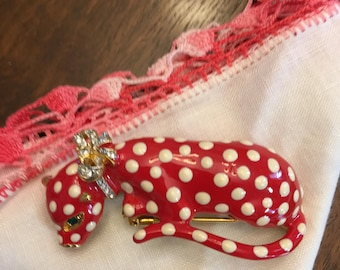 Kenneth Lane Cat Brooch