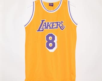 Rare Vintage VTG Links Marketing Kobe Bryant #8 LA Lakers Basketball Jersey XL