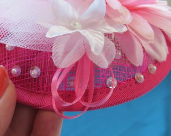 Hot Pink Gerber Fascinator