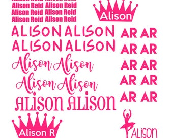 Personalized Vinyl Back to school name Labels; vinyl name labels; school labels; back to school name tags; kids name labels
