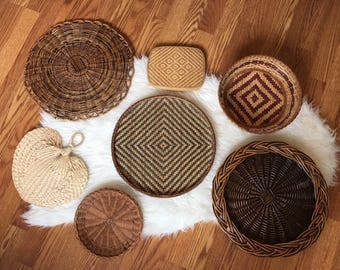 Wall Basket Collection Set of 7