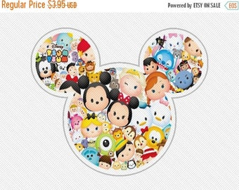 25%OffSale Disneys Tsum Tsum Mickey Mouse Head Disney World Iron on Transfers Instant Download Matching Tshirts Clipart
