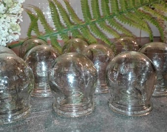Set of 10 Glass Cupping Fire Cups. Vintage. Medical. Body Massage