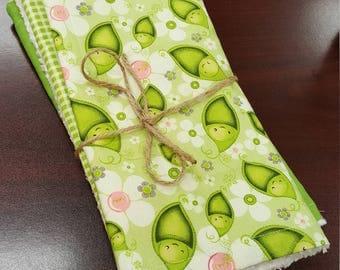 Pea in a Pod Burp cloth