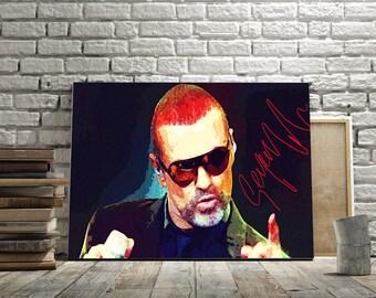 Fine Art Print, art print George Michael, painting art, wall art print, print modern