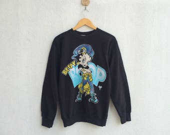 Vintage 90's Betty Boop Cartoon Sweatshirt Nice Design