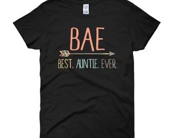 Auntie Shirt, Shirt for Aunt, BAE Auntie Shirt, Aunt Shirt, Cute Auntie Tshirt, Best Auntie Ever, Gift for Auntie,Birthday Gift Auntie