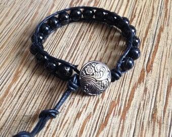 Wrap bracelet, single wrap bracelet, beaded bracelet