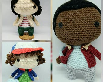 Stranger things Mike, Stranger Things Dustin, Mike Wheeler, Lucas stranger Things Stranger Things Doll, Mike stranger Things Amigurumi