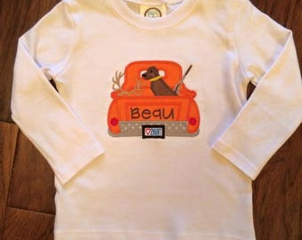 Hunting Truck Applique Shirt