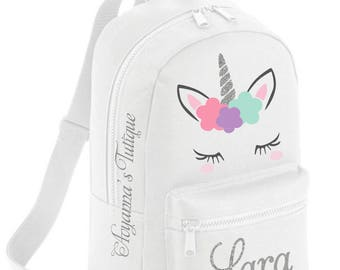 Unicorn backpack Personalized backpack personalized schoolbag unicorn bag girls backpack