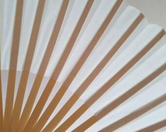 White Silk Fan, Wedding Fan, Wedding Favor Fan, DIY Fan Keepsake, Decoratable Fan, Personalized Fan, Guest Fan for Outdoor Wedding