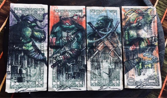 Hobo Bill Dollar Ninja Turtles by Edson