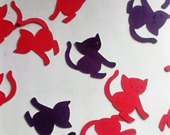 Valentine's Day,Engagement Party ConfettiKitty Confetti,Cat Birthday Confetti, Animal Lover Birthday,Cat Decorations