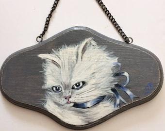 Cat door plaque