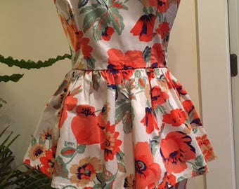 Floral Sheath Dress with Frill
