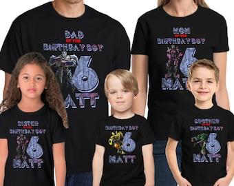 Transformers Birthday Shirt Customized Name and Age Personalized Birthday Shirts Transformers Family Shirts