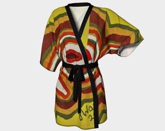 Two Eyes Kimono Robe