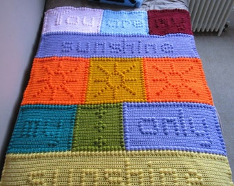 Your Are My Sunshine crochet blanket PATTERN ONLY