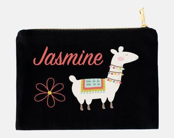 Llama Pencil Case, Personalized Pouch, Makeup Bag, Cosmetic Pouch, Custom Pencil Case, School Pouch, Kids Pencil Pouch, Llama Pouch