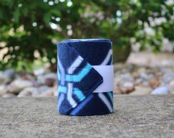 Perfect Polo Wraps - Blue Geometric