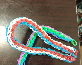 3 color band bracelet (round)