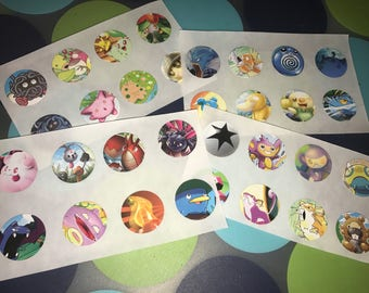 Up-cycled Pokemon Card Stickers
