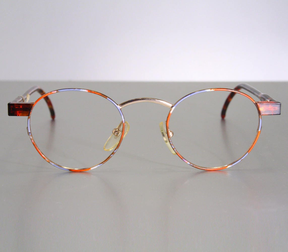 31f065e2266 Unworn NORDIC OPTICAL Women s Colorful Orange Tone Austrian Eyeglass Frames  Old Stock New w  Tags