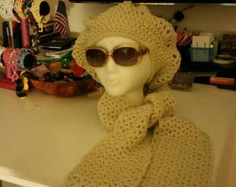 Beret and scarf. Any color