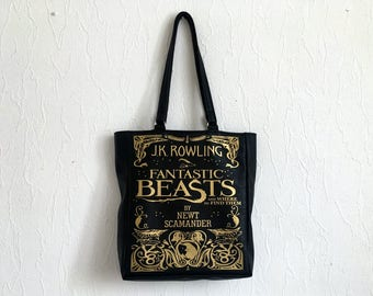 SALE Fantastic Beasts Shopper Bag Faux Leather Tote Bag Fantastic Beasts and Where to Find Them Shopping Bag