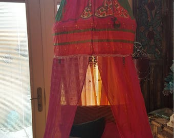 Bohemian Canopy for Bed or Chair/Reading nook meditation tent gl&ing dorm & Bohemian bed canopy   Etsy