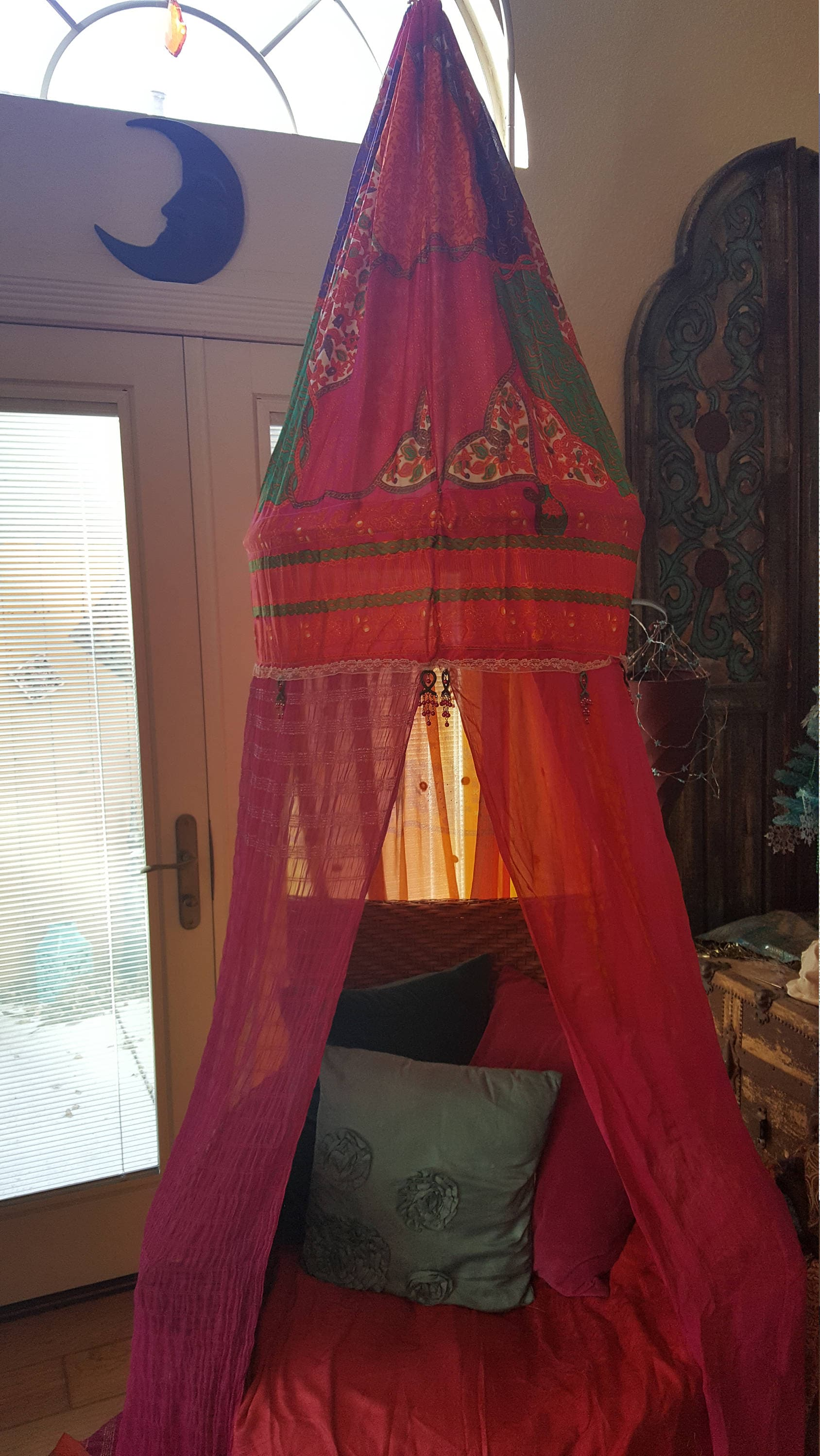 Bohemian Canopy For Bed Or Chair Reading Nook Meditation Tent Glamping Dorm Room Play