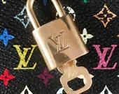 1 Matching Numbered Lock+Key! Louis Vuitton Lock & Key