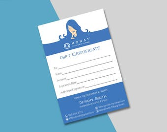 Monat Gift Certificate, Monat Gift Card, Custom Monat Hair Care Card, Fast Free Personalization, Monat Business Cards MN03