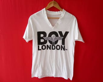 vintage boy london v neck medium mens t shirt