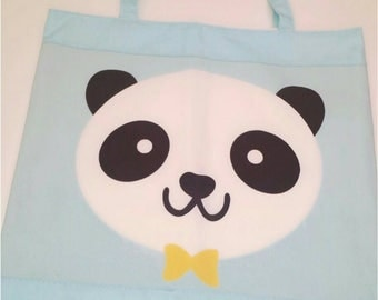 Panda bag. For the library, snack, the nanny.