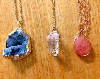 Natural Gemstone Necklaces