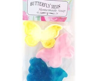 Butterfly mini soaps 3 pack