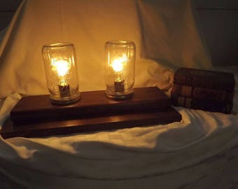 Handmade Mason Jar Table Lamp