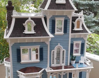 Beautiful 9 room  Victorian Dollhouse, lovingly hand-crafted