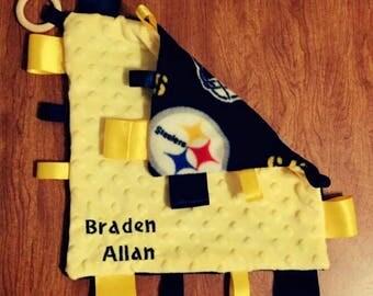 Pittsburg Steelers Tag Blanket