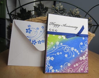 Happy Anniversary Card, handmade anniversary card