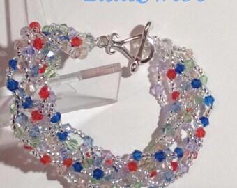 Summer bracelet, colorful bracelet,beaded bracelet,crystal bracelet,multicolour bracelet