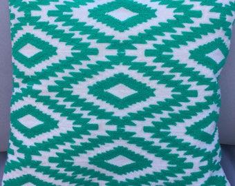 Ari Embroidered Geometric Design Cushion Cover