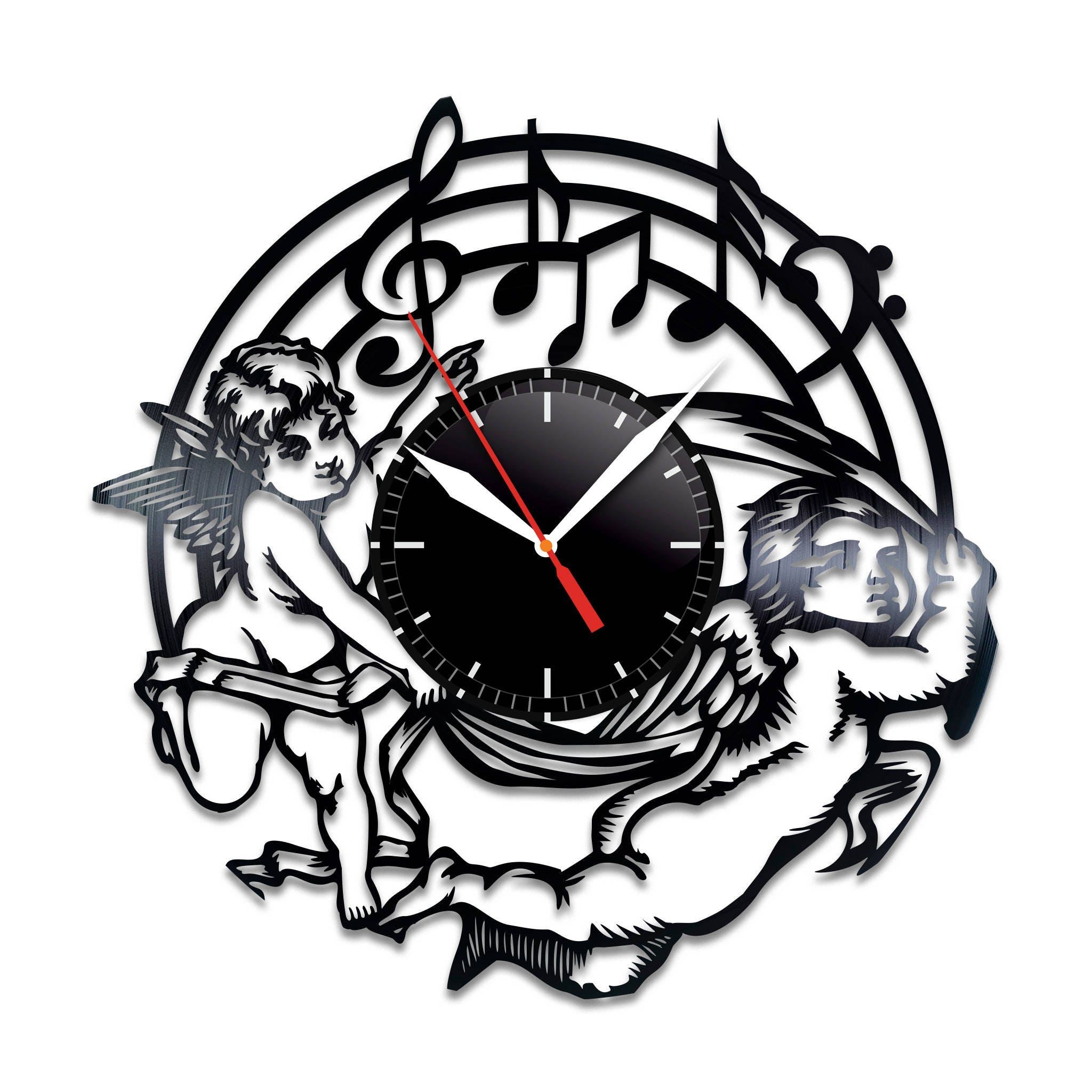 Music vinyl wall clock music nice home decor music best gift zoom amipublicfo Images