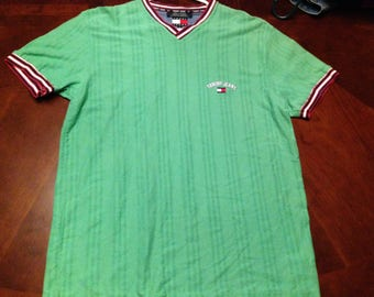 Vintage tommy jeans tee lime green!!!! Size large!