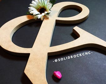 Letter Symbol CNC Wood Cutout ~ Personalized Sign for Wall Decor